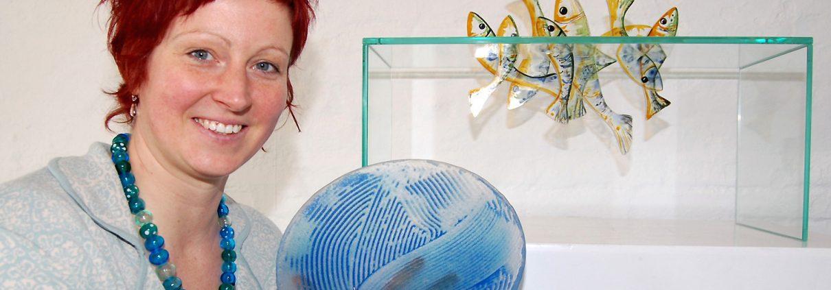 Glasobjekt Fische Glasschale Glaskunst Antje Otto Keitum Sylt