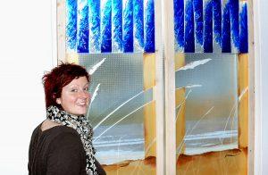 Glasobjekt Strandstimmungen Glaskunst Antje Otto Keitum Sylt
