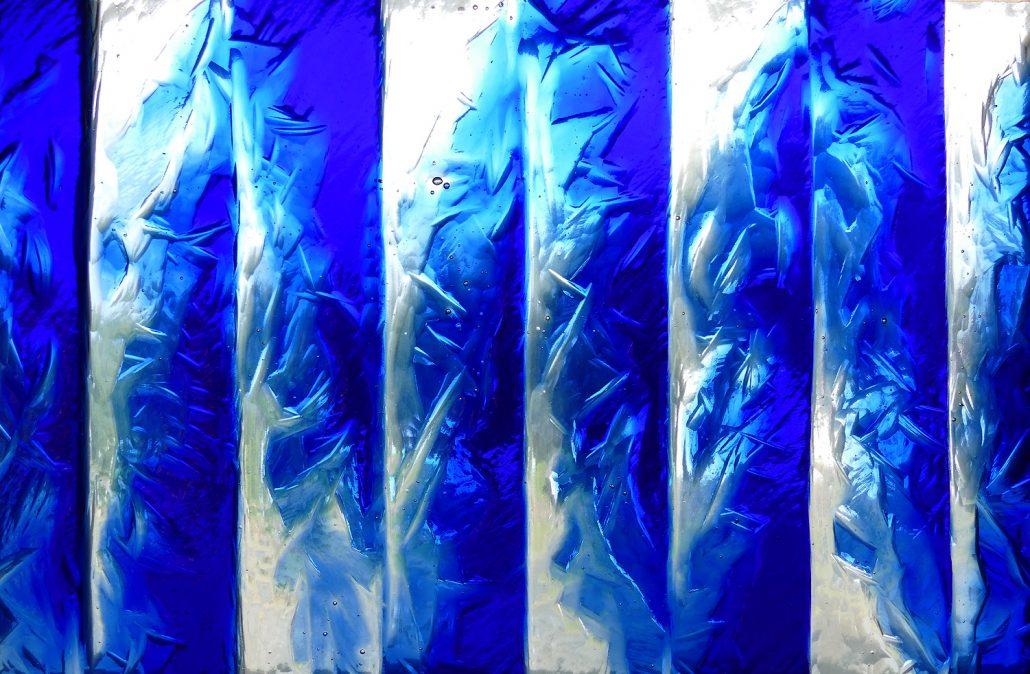 Blauschattierungen Glaskunst Antje Otto Keitum Sylt