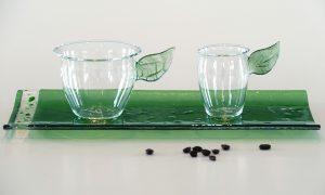 Antje-Otto-Glaskunst Keitum Sylt Espressotassen