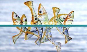 Antje-Otto-Glaskunst Fische-Glasobjekt