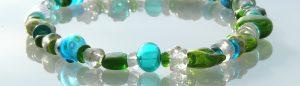 Glaskette mundgeblasen Tuerkis Glaskunst Antje Otto Keitum Sylt