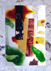 Antje-Otto-Glaskunst Glasobjekt John Lennon