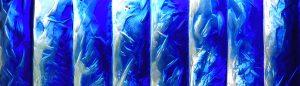 Schattierung in blau Glaskunst Antje Otto Keitum Sylt