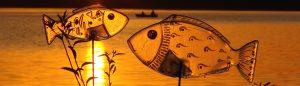 Glasfische handbemalt blau Glaskunst Antje Otto Keitum Sylt