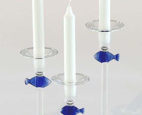 Antje-Otto-Glaskunst Keitum Sylt Kerzenleuchter