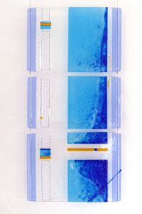 Glasobjekt hängend Fusing Glaskunst Antje Otto Keitum Sylt