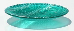 Antje-Otto-Glaskunst Keitum Sylt Glasreliefschale Grün