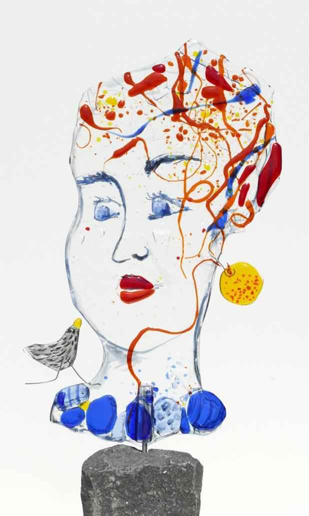 Antje-Otto-Glaskunst Keitum Sylt Glasskulptur-Maske