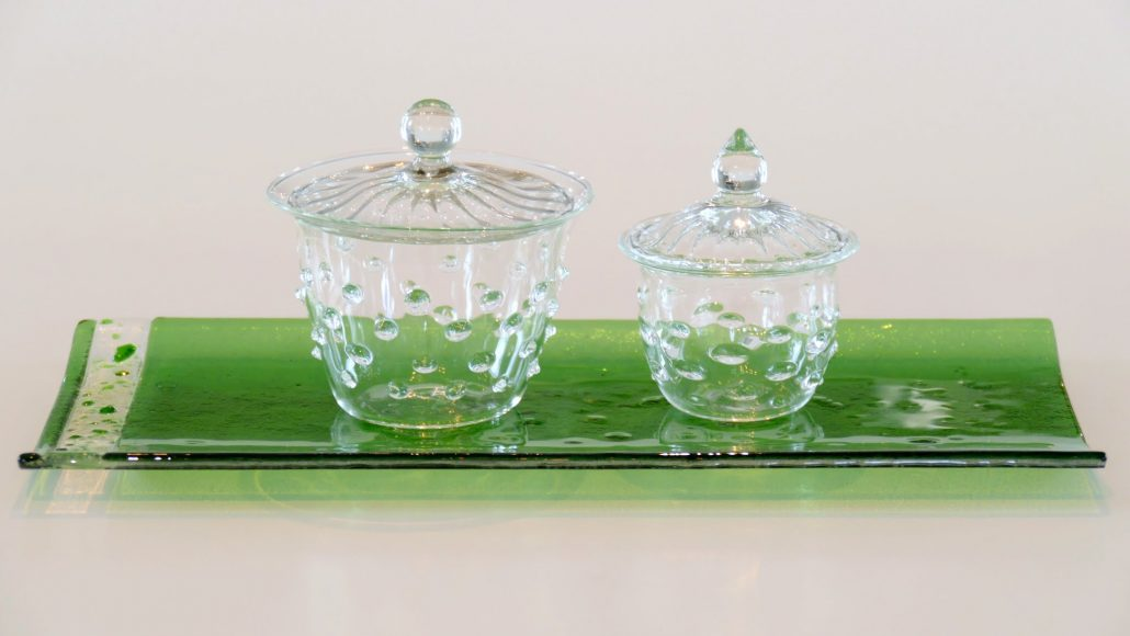 Antje-Otto-Glaskunst Keitum Sylt Deckeldöschen