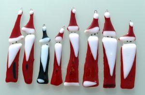 Weihnachrsmaenner Glaskunst Antje Otto Keitum Sylt