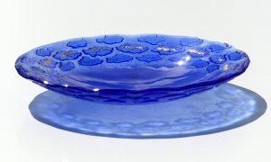 Antje Otto Glaskunst Glasschale Blau Fische