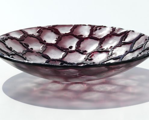Antje Otto Glaskunst Glasreliefschale