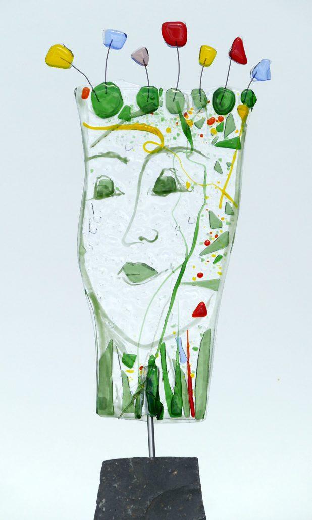 Antje Otto Glaskunst Glasskulptur-Maske