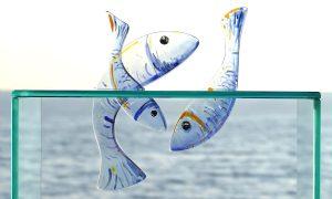 Antje-Otto-Glaskunst-Keitum Glasobjekt-Fische