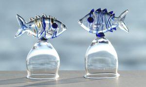 Antje-Otto-Glaskunst-Keitum Schnapsglaeser