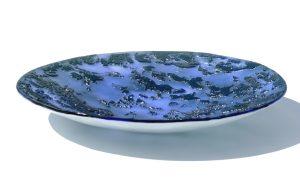 Antje-Otto-Glaskunst-Keitum Reliefglasschale Blau